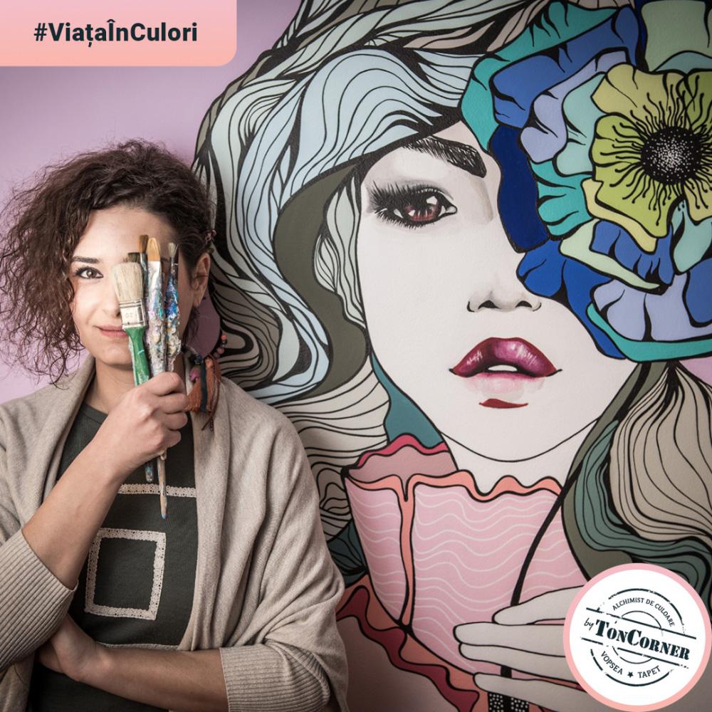 """#ViațaÎnCulori cu Iulia Pracsiu: """"Mi-am dat seama că eu asta sunt; o persoană care pictează."""""""